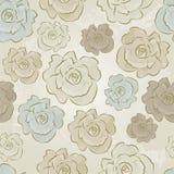 Uitstekend Bloemen Naadloos vectorpatroon van Rozen Royalty-vrije Stock Fotografie