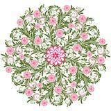 Uitstekend bloemen rond patroon Royalty-vrije Stock Foto