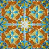 Uitstekend bloemen vector naadloos patroon Lichtblauw sierfl vector illustratie