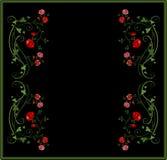 Uitstekend bloemenframe stock illustratie