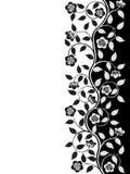Uitstekend bloemenframe Stock Afbeelding
