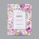 Uitstekend bloemenframe Royalty-vrije Stock Foto's