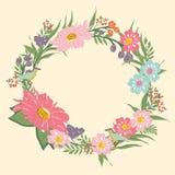 Uitstekend bloemenframe stock foto