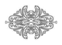 Uitstekend bloemenframe Element voor ontwerp Royalty-vrije Stock Foto