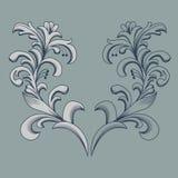 Uitstekend bloemenframe Element voor ontwerp Royalty-vrije Stock Afbeeldingen