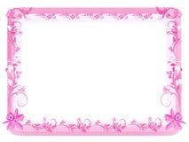 Uitstekend BloemenFrame - Roze Stock Foto