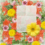 Uitstekend bloemenkader Royalty-vrije Stock Fotografie