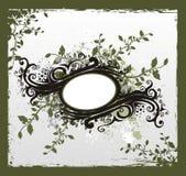 Uitstekend bloemenlint vector illustratie