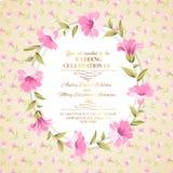 Uitstekend bloemenornament Royalty-vrije Stock Afbeeldingen