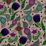 Uitstekend bloemenpatroon Stock Afbeeldingen
