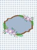 Uitstekend bloemkader Stock Illustratie