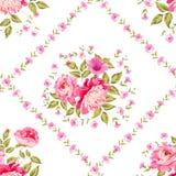 Uitstekend bloempatroon Stock Afbeeldingen