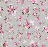 Uitstekend bloempatroon op grijs royalty-vrije illustratie