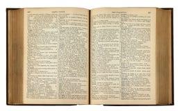 Uitstekend Boek met Tekst Royalty-vrije Stock Foto's