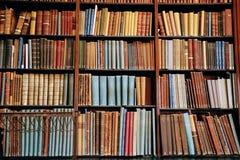 Uitstekend boek op de houten boekenrekken royalty-vrije stock afbeelding