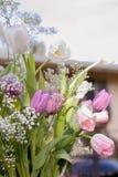 Uitstekend boeket van bloemen royalty-vrije stock foto