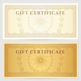 Uitstekend bon (coupon) malplaatje met grens Royalty-vrije Stock Fotografie