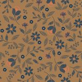 Uitstekend Borduurwerk naadloos patroon met mooi wild de illustratieontwerp van de bloemen gevoelig vectordruk voor manier, stof, vector illustratie