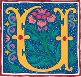 Uitstekend brievenu in kleur Royalty-vrije Stock Afbeeldingen