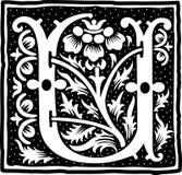 Uitstekend brievenu in zwart-wit Stock Foto
