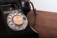 GPO 332 uitstekende telefoon - sluit omhoog van roterende wijzerplaat Stock Fotografie
