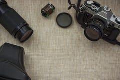 Uitstekend Camera en Materiaal stock foto