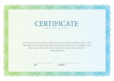 Uitstekend Certificaat Malplaatjediploma's, munt Royalty-vrije Stock Afbeeldingen