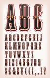 Uitstekend Circus en Westelijke ABC-Doopvont Stock Foto