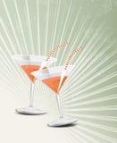 Uitstekend cocktailglas Stock Afbeelding