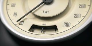 Uitstekend de close-updetail van de automaat op zwarte achtergrond 3D Illustratie Royalty-vrije Stock Foto