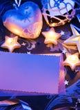 Uitstekend de kaartontwerp van de Kerstmisgroet met document Stock Foto's
