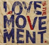 Uitstekend de T-shirt Grafisch Vectorontwerp van de liefdeslogan Royalty-vrije Stock Afbeeldingen