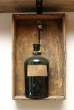 Uitstekend decor met chemische fles Royalty-vrije Stock Afbeelding
