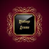 Uitstekend decoratief frame Royalty-vrije Stock Foto's