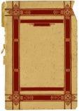 Uitstekend Decoratief Frame tegen de Gescheurde Teksten van het Document Royalty-vrije Stock Foto's