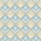 Uitstekend decoratief naadloos patroon met bloemen Stock Illustratie