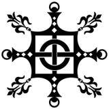 Uitstekend decoratief ornament (vector) Stock Afbeelding