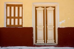 Uitstekend deuren en venster Stock Fotografie