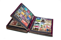 Het album van de zegel Stock Foto's