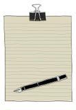 Uitstekend document en pen leuk art. Royalty-vrije Stock Fotografie
