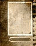 Uitstekend document frame - sepia royalty-vrije illustratie