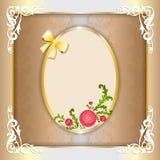 Uitstekend document kader met bloemenornament Royalty-vrije Stock Fotografie