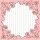 Uitstekend document kader met bloemenpatroon vector illustratie