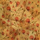 Uitstekend document met bloemen Royalty-vrije Stock Foto