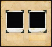 Uitstekend Document - met Polaroidcamera royalty-vrije stock afbeelding