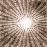 Uitstekend document met zonnestraal Stock Foto