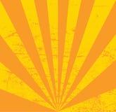 Uitstekend document, retro stralenachtergrond, gekraste textuur Vectorlay-out Stock Fotografie