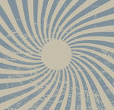 Uitstekend document, retro stralenachtergrond, gekraste textuur Vectorlay-out Royalty-vrije Stock Foto's