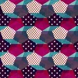 Uitstekend doek naadloos patroon Royalty-vrije Stock Afbeeldingen