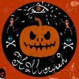 Uitstekend Etiket, Halloween-Stijl Stock Foto